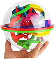 3D Laberinto Rompecabezas de la bola del juguete 100 Barreras Laberinto Mágico intelecto bola laberinto Rompec
