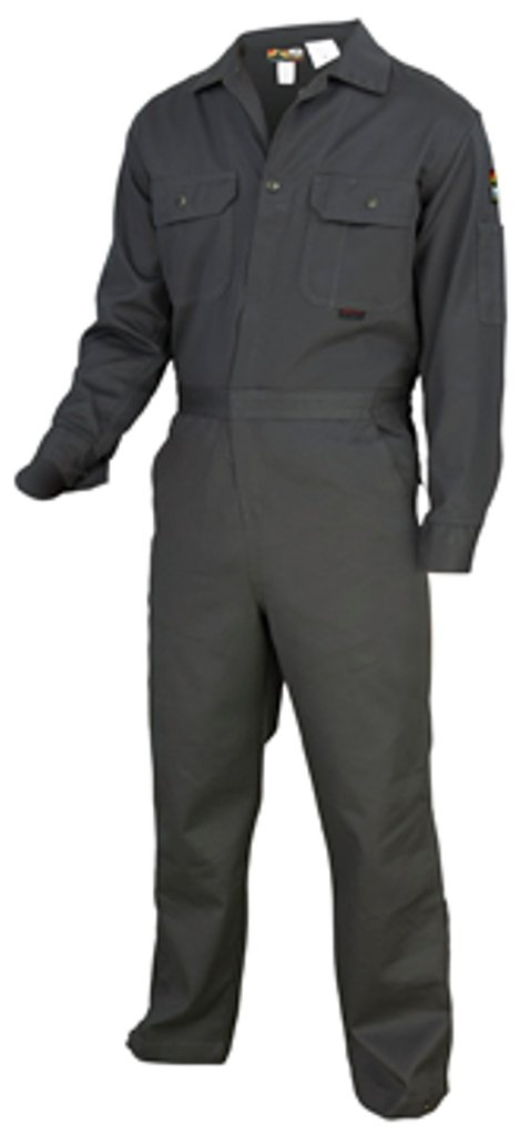 MCR Safety DC1G60 Deluxe Contractor Flame Resistant Coveralls, Size 60, Chest 60-Inch, Waist 60-Inch, Inseam 30-Inch, Gray