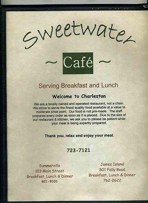 sweetwater cafe breakfast lunch menu charleston south carolina - Carolina Kitchen Menu