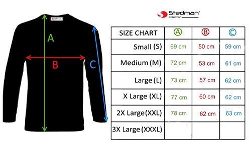 T Stedman Lunga Honda Racing shirt Uomo Manica Black Civic Logo Printed 8BZPqwB