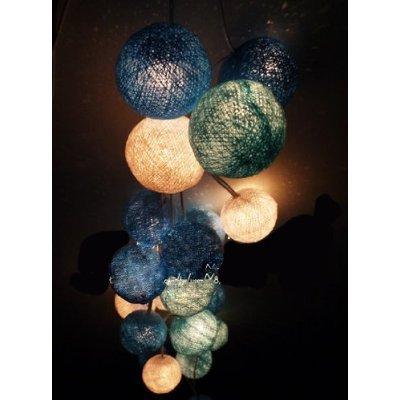 Christmas Decor 20 X Mixed Blue Tone Handmade Cotton Balls Fairy Srting Light Decor Home Living Room Patio Wedding Light Display