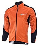 sponeed Windproof Jacket Cycling Men Bike Riding Clothes Fleece Liner Bicycle Barrier Jerssey Firewall L Size Orange