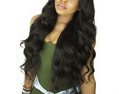 Body Wave Human Hair Front Lace Wigs For Women Pre Plucked Hair With Baby Hair 8-26 Inches Brazilian Remy Hair Bleached Knots,#1,8