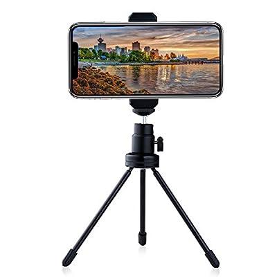HaloVa Cellphone Tripod, Universal Portable Aluminum Mini Selfie Stick Tripod with 360 Rotation for iPhone 8 7 6 6 plus, Samsung S8 Note, etc