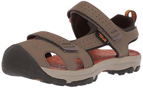 (Teva Boys' K Hurricane Toe PRO Sport Sandal, Walnut, 2 M US Little Kid)