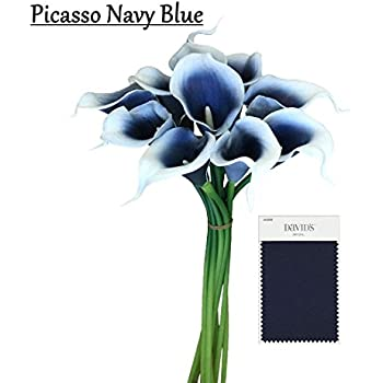10pc Set Real Touch Calla Lily Keepsake Artificial Flower Perfect For Cut To Make Boutonniere