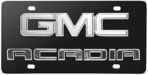 Gmc Acadia Emblem Chrome Decorative Vanity License Plate OEM