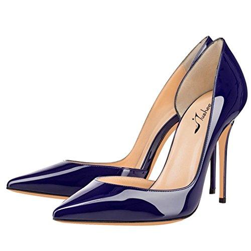 azul cuña marino Sandalias mujer Jushee con aAznOIqxwS