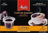 Melitta Single Cup Coffee for K-Cup Brewers, Cafe de Europa Classique, Medium Roast, 12 Count
