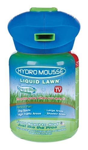 Hydro Mousse Liquid Lawn System - Grow Grass Where You Spray It - Made in USA - Lawn Care Grass Seed