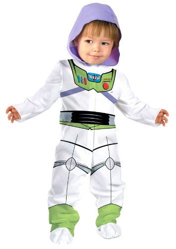 Disguise Baby Boy's Disney Pixar Toy Story and Beyond Buzz Lightyear Classic Costume, White, 0-6 Months