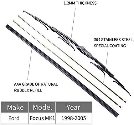 Escobillas limpiaparabrisas delanteras para Focus MK1 1998-2005 ...