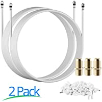 RG-6 | 25 Ft | White | 2 Pack | UL CL2 Certified Cable Quad Shielded Coaxial Cable For Satellite TV & High Speed Internet + Digital Video Cables. …