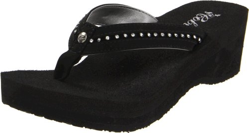 cobian Women's Tiffany Flip Flop, Black, 5 UK/5 M US