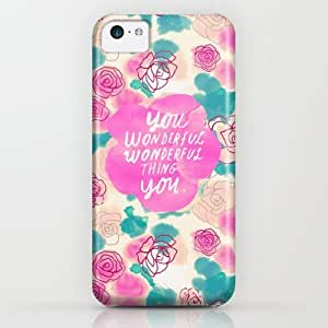 Society6 - Cute Pink Turquoise Floral Pattern Illustration iPhone & iPod Case by Girly Road