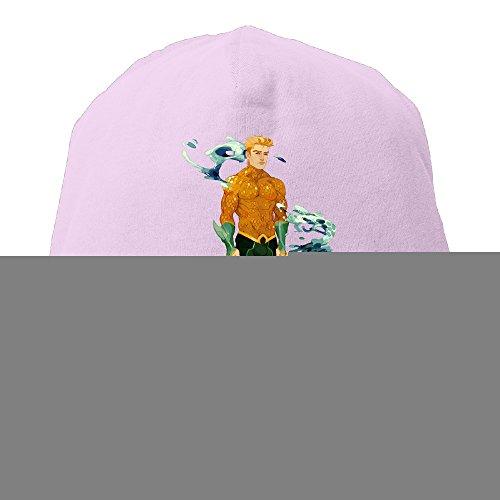 [YUVIA Aquaman Men's&Women's Patch Beanie JoggingPink Hat For Autumn And Winter] (Aquaman Halloween Costumes)