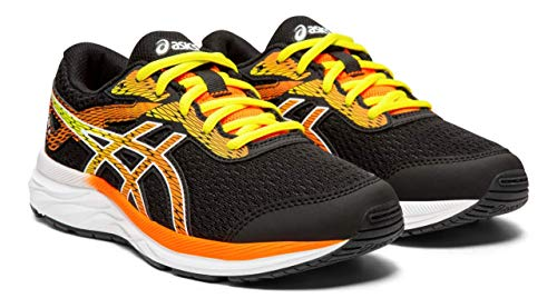 ASICS Gel-Excite 6 GS Kid's Running Shoes, Black/Shocking Orange, 2.5 M US Little Kid (Childrens Running Shoes)