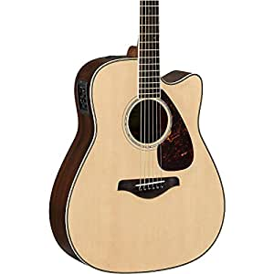 yamaha fgx830c solid top cutaway acoustic electric guitar natural musical instruments. Black Bedroom Furniture Sets. Home Design Ideas