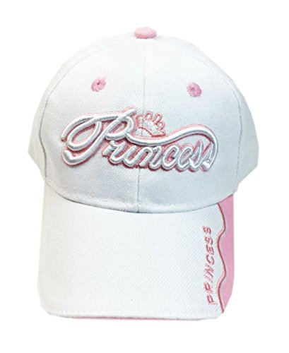 Aesthetinc Embroidered Princess Infant Toddler Kid's Baseball Cap Hat (White)