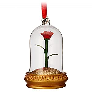 Disney Enchanted Rose Light-up Sketchbook Ornament – Beauty and The Beast