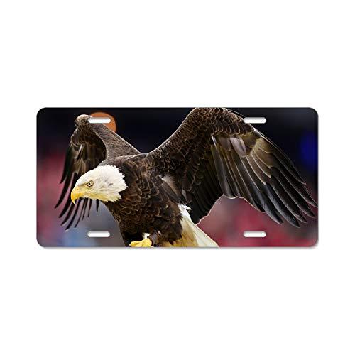 Bald Eagle Home,Bathroom and Bar Wall Decor Car Vehicle License Plate Metal Tin Sign Plaque - Eagle Plaque Mount