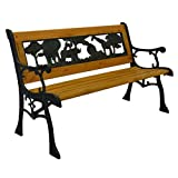 Cheap Home and Garden HGC Junior Safari Kids Park Bench