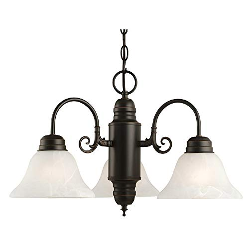 Design House 514463 Millbridge 3 Light Chandelier, Oil Rubbed Bronze ()