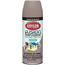 Krylon K02438001 Fusion for Plastic Spray Paint, Satin Khaki