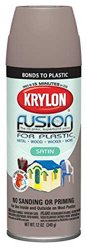 (Krylon K02438001 Fusion for Plastic Spray Paint, Satin Khaki)