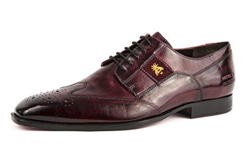 Melvin & Hamilton - Zapatos de cordones de charol para hombre rojo rojo 42