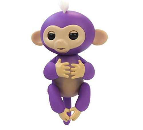 Price comparison product image Qiyun Fingerlings Interactive Baby Monkeys Smart Finger Induction Toys Best Gifts For Kids colour:Purple