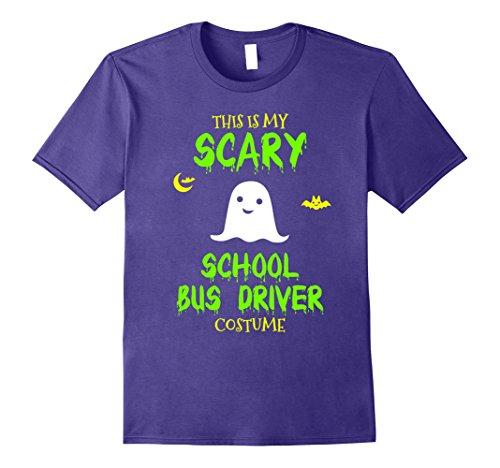 School Bus Driver Costume (Mens Scary School Bus Driver Costume Halloween T-Shirt 2XL Purple)