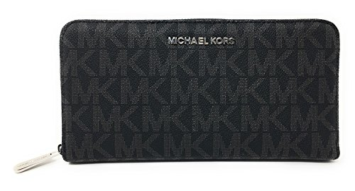 Michael Kors Jet Set Travel Zip Around Travel Wallet (Jet Set Monogram)