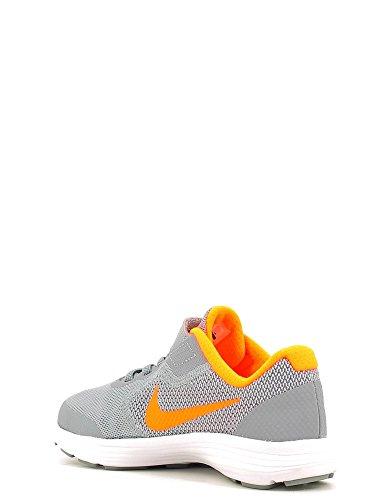 Nike Revolution 3 (Psv), Zapatillas de Running para Niños Negro (Stealth / Total Orange-White)