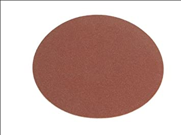 Faithfull ADSA15060 Self Adhesive PSA 150mm Disc 60g - Red (Pack of 25) FAIADSA15060