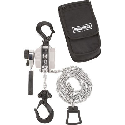 Roughneck Manual Lever Chain Hoist - 3/4-Ton Capacity, 13.8in. Head Room