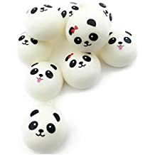 Pulison(TM) New Cute 1PCS Cute 10cm Panda Buns Bread Charms Key/Bag/Cell Phone Straps Fun Kids Kawaii Toy Stress Relief Decompression Toys For kids (white)