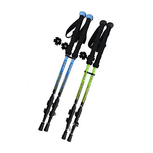 Travelsky Trekking Poles,Ultralight Double Locking,7075 Aluminum Alloy,Travel Hiking /Climbing Poles with Anti-Shock & Quick Lock Technology,Walking\running, 2-Pack …