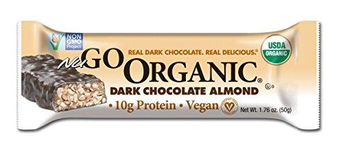 NuGo organique Nutrition Bar, chocolat et aux amandes foncé, bars 1,76 onces (Pack de 12)