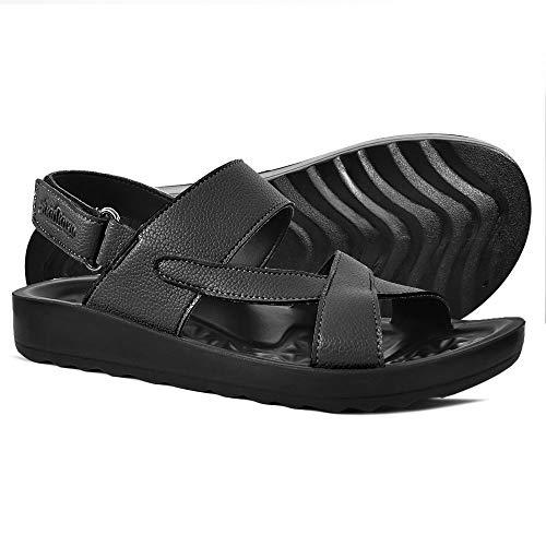 - AEROTHOTIC - Comfortable Walk Flat Slingback Strappy Sandals for Women (US-Women-7, Winx Black)