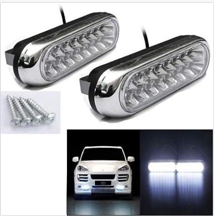 Amazon.com: FidgetFidget Luces para Coche Carro Blanco 16 LED Lámparas - Aumenta La Seguridad En La Noche: Automotive