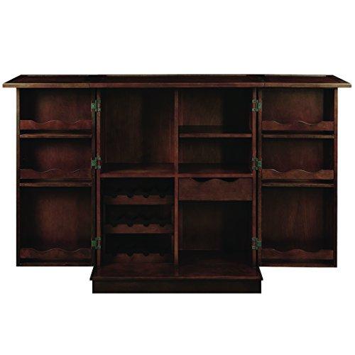 RAM Game Room Portable Folding Bar Cabinet – Cappuccino