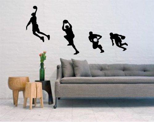 Global Graffix Basketball Dunk - Large Wall Decal Sticker Home Decor 48