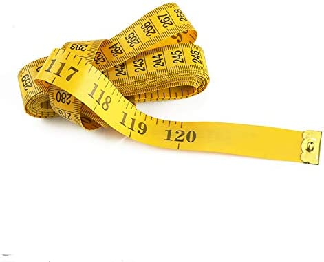 2-Pack 120 Inches//300cm Soft Tape Measure 1yellow and 1white Pocket Measuring Tape for Sewing Tailor Cloth Body Measuremen