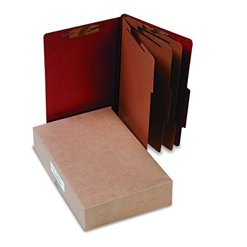ACCO 16038 ACCO Pressboard 25-Point Classification Folder, Lgl, 8-Section, Earth Red, - Expansion 14 Folder Classification