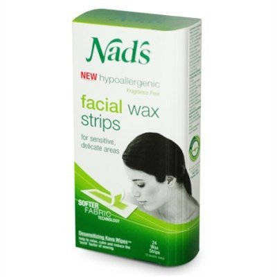Nad's Hair Removal Facial Strips 24 Count (3 Pack) by NAD'S