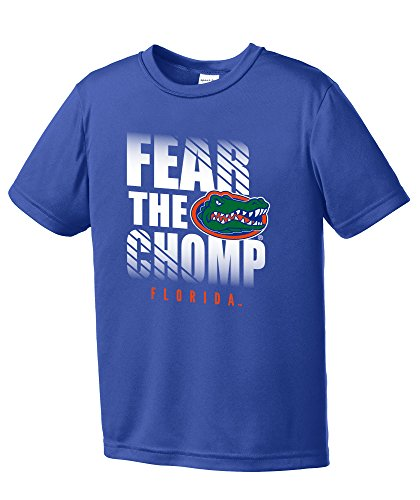 NCAA Florida Gators Boys Fear Short Sleeve Polyester Competitor T-Shirt, Youth Large,Royal ()