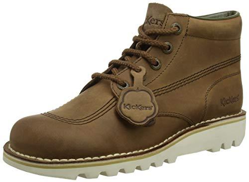 Kickers Kick Hi Womens Leather Matt Ankle Boots in Brown (EU 40, Brown) (Kickers White)