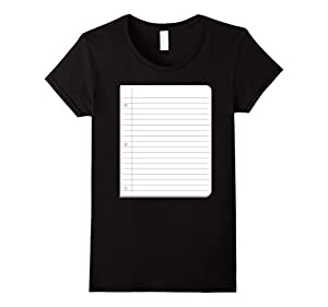 Womens Paper Group Halloween Costume Rock Paper Scissors T-Shirt Medium Black