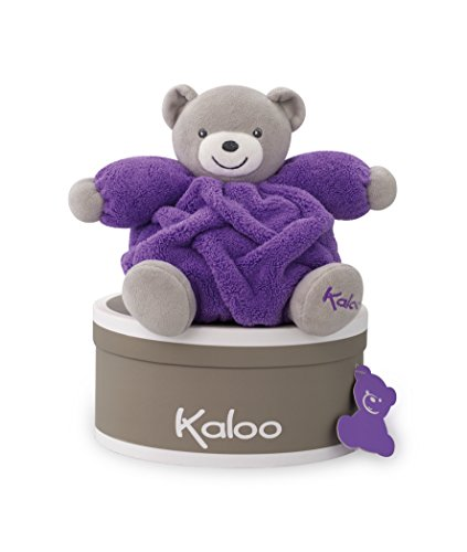 Kaloo Doudou Chubby Bear, Neon Purple, Small (Soft Toy Doudou)